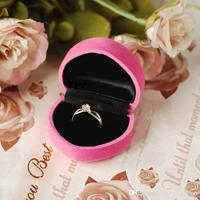 48pcs Lot Flocking Heart Shape Ring Box Woman 039 S Earring Box Wedding Jewelry Gift