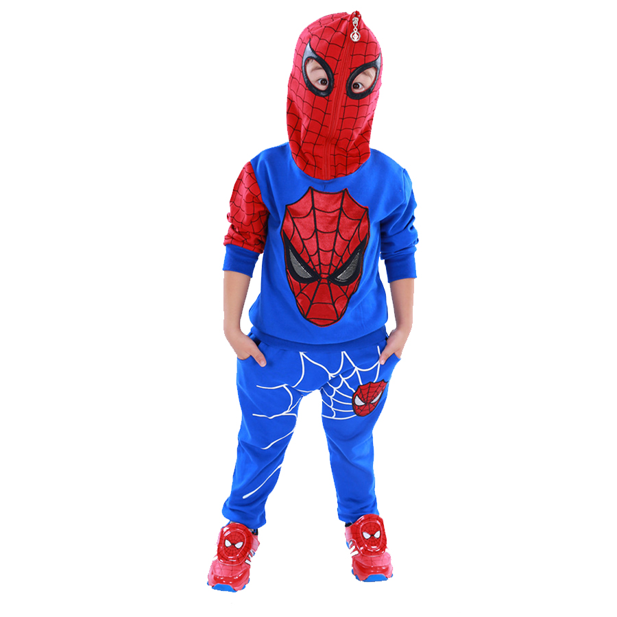 Children's Clothing Boy,Clothes For Boys ,Spiderman Tracksuits,Boys Clothing Sets,Cotton Hoodies + Pants 2Pcs Suits 022701