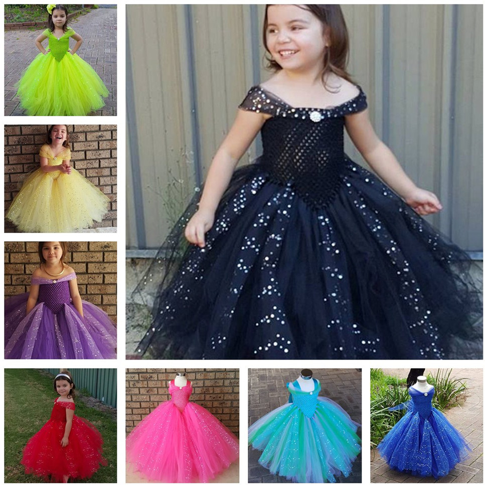 Froze Princess Queen Elsa Anna Ball Grown Kids Girls Party Halloween Cosplay Fancy Dress Three Layers Tutu Dress Ankle Length 4pcs gothic halloween artificial devil vampire teeth cosplay prop for fancy ball party show