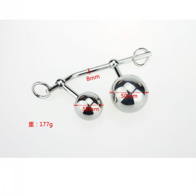 1PC Bondage Steel Stainless Double Ball Anal Hook Prostate Erotic Toy  For Men Couples,Anal Vagina Ball Massager For Women
