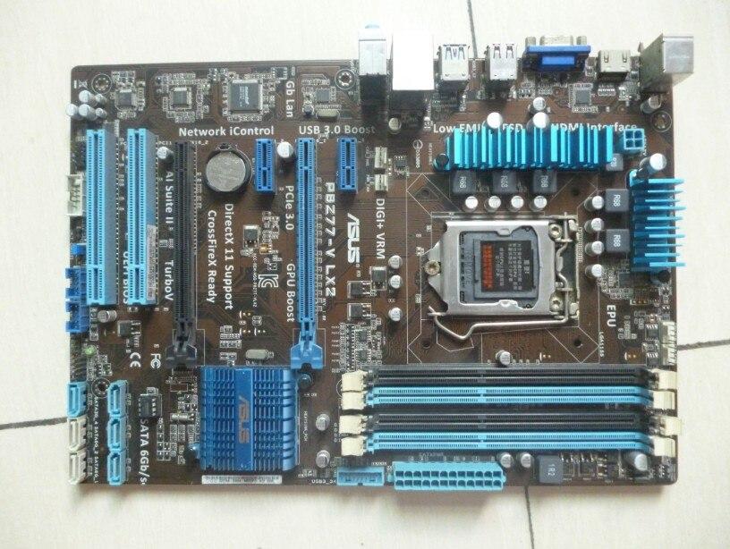 Used Asus P8Z77-V LX2  Desktop Motherboard Z77 Socket LGA 1155 I3 I5 I7 DDR3 32G SATA3 USB3.0 ATX