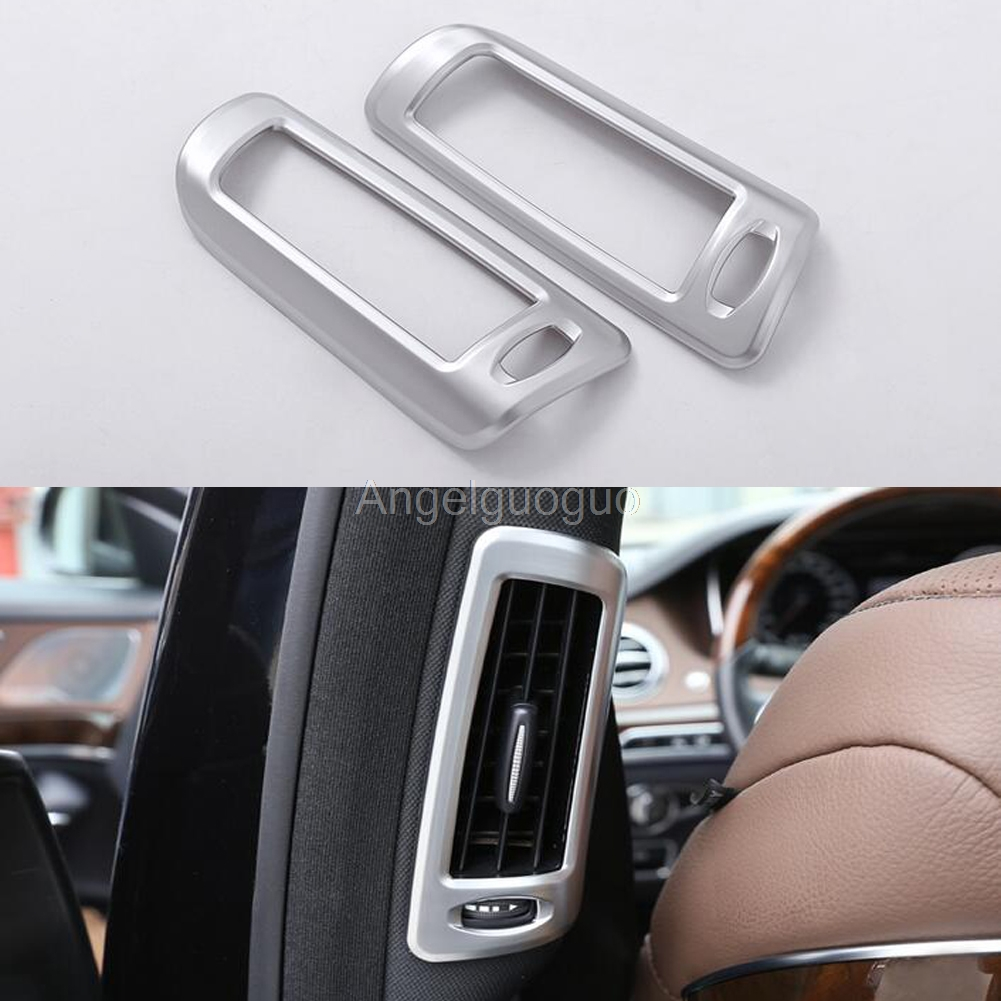 Car B pillar air conditioning AC Outlet sequins frame cover sticker for Mercedes Benz S Class W222 S300 S320 S350 2014-2017