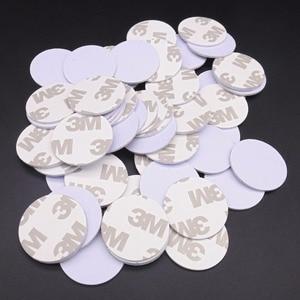 Image 4 - (10 stücke) RFID 125 KHz 25mm T5577 Aufkleber Wiederbeschreibbare Klebstoff Münze Karten Tag Für Kopie Runde Form PVC Material