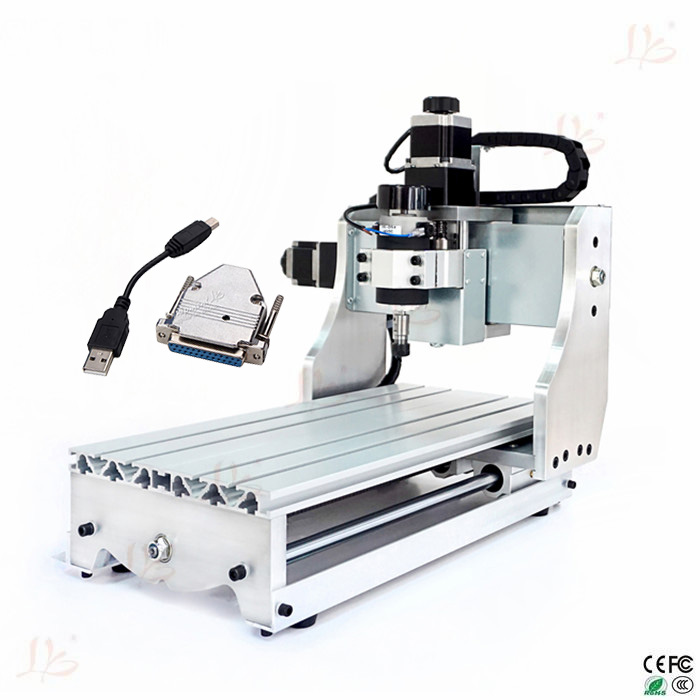 Free tax to Russia 4axis wood lathe router cnc milling machine 3020 Ball screw with USB adapter 500w mini cnc router usb port 4 axis cnc engraving machine with ball screw for wood metal