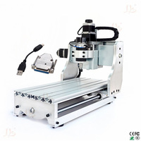 Free Tax To Russia 4axis Wood Lathe Router Cnc Milling Machine 3020 Ball Screw With USB