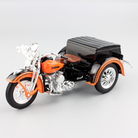 1:18 maisto kids Harley vintage classic Motorcycle sidecar SERVI panhead glide road king Diecast model motor bike metal toy boy