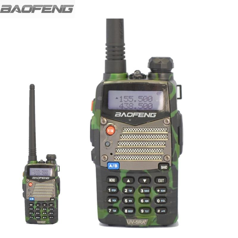 bilder für BAOFENG UV-5RA Plus Walkie Talkie Camouflage Rot Blau Tragbare Ham Dual Band VHF UHF FM 128 Zwei Funkgeräte