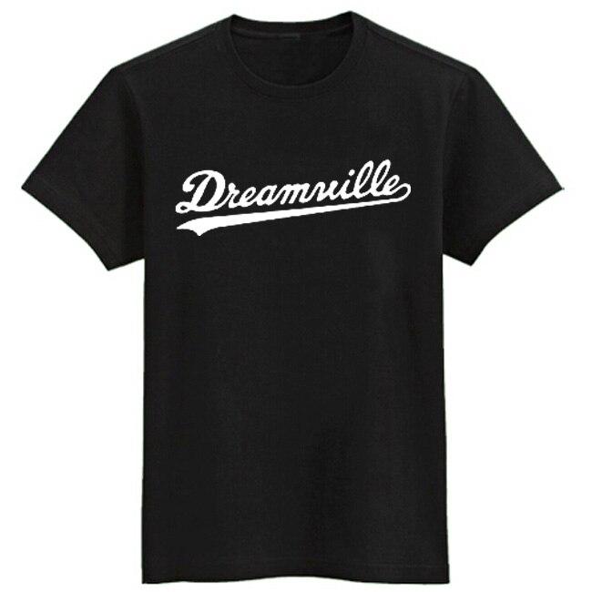 J.COLE same style   t     shirts   short sleeve   t  -  shirt   Dreamville tee   shirt   hip hop   t     shirt   men brand Jermaine Cole tshirt cotton