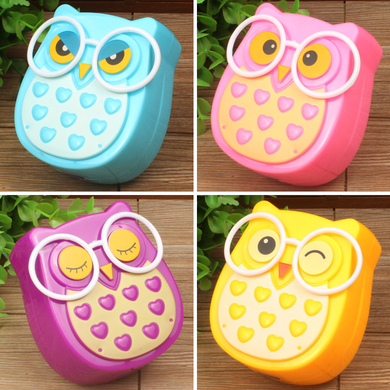 4 Colors Mini Owl Led Night Light Auto Sensor Light Control Lamp EU US Plug Child Kid Baby Bedside Bird Light Socket Night Light