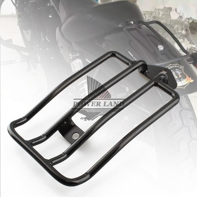 Black Steel Painted Motorcycle Stock Solo Seat Luggage Carrier ...