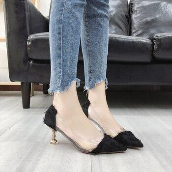Phyanic Clear Transparent PVC Women Pumps Club Party Pump Shoes Woman Foot Wear Designer Shoes Women High Heels Shoes 2018 New basic pump