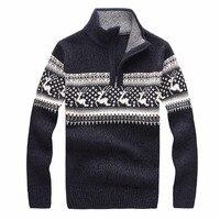 Nowy 2018 Cheshanf Mężczyzna Christmas Jelenie Swetry Z Wełny Sweter Mężczyzn Sweter Z Golfem Grube Dzianiny Sweter Boże Narodzenie Mężczyzna