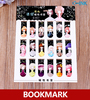 Kawaii Cartoon Girl Magnetic Bookmark Cute Girl Magnetic Bookmarks For Books Magnetic Clips Page Marker