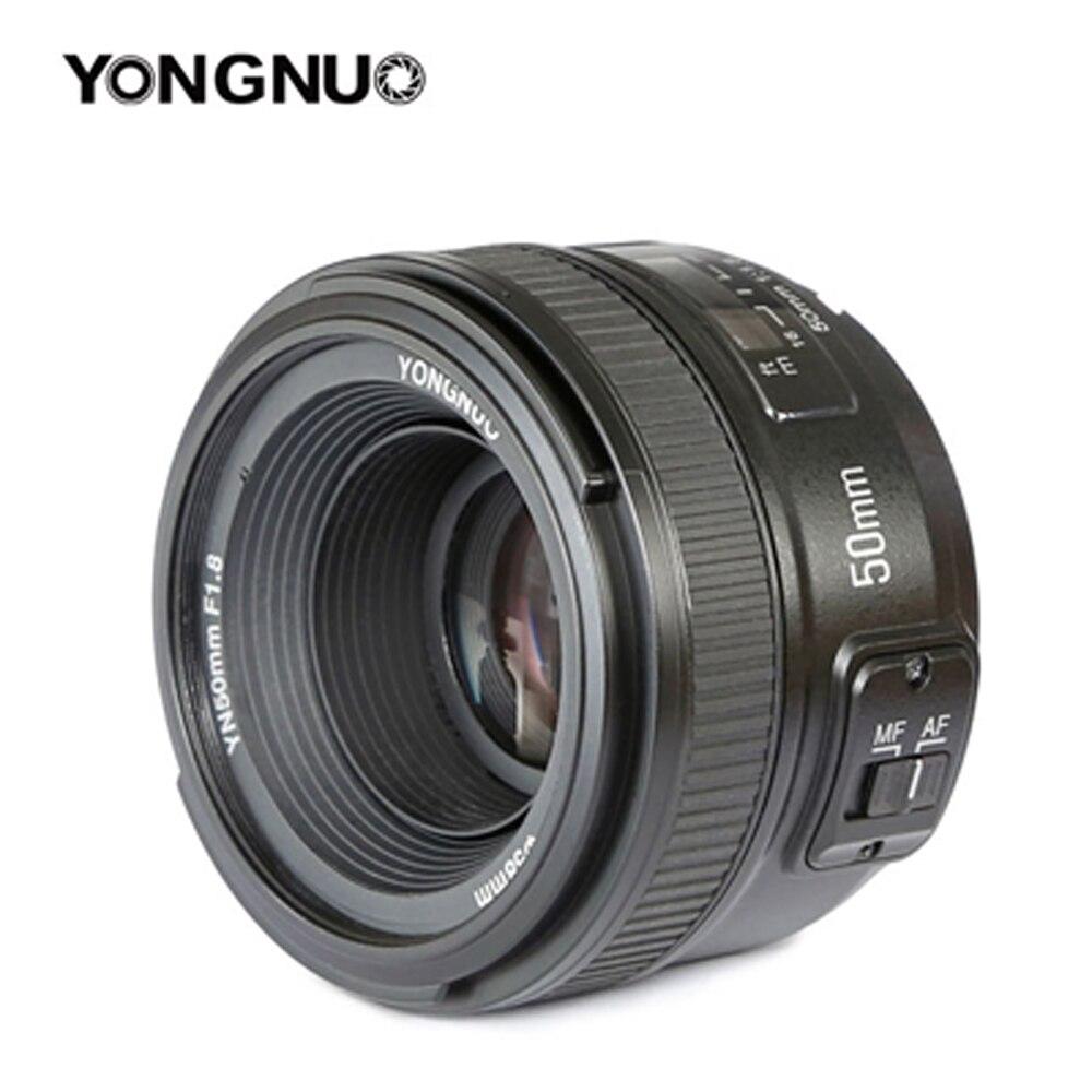 Оригинальный YONGNUO 50 мм f1.8 первоклассные Объективы для камеры большой апертурой автофокусом для Nikon D5200 D3300 d5300 d90 d3100 d5100 s3300 d5000