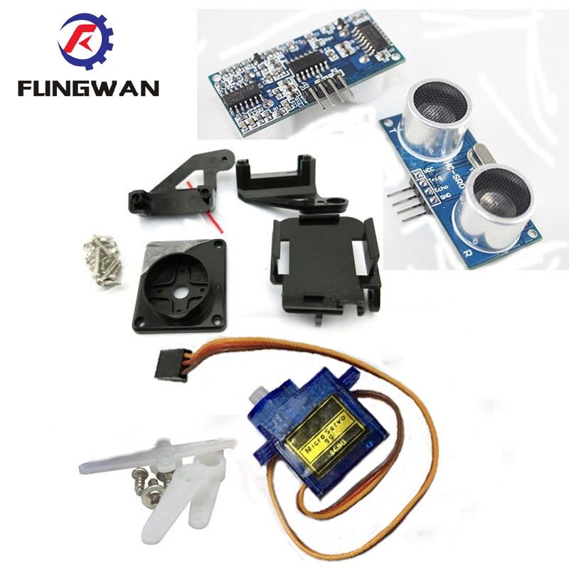 1 Stücke 9g Sg90 Servo Motor + 1 Stücke Fpv Gewidmet Nylon Ptz Für Arduino Kit + 1 Stücke Ultraschall-modul Hc-sr04