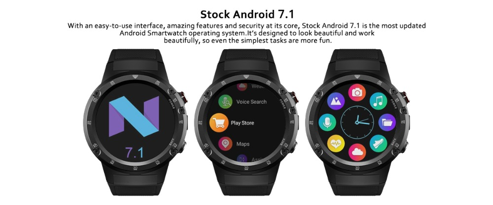 4G Wifi GPS Smart Watch Zeblaze THOR 4 Plus SIM 1GB+16GB 5.0MP Camera SmartWatches  Android 7.1 MTK6739 QuadCore Wristwatch 2019 (9)