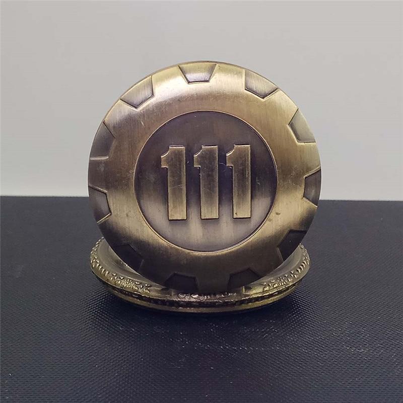 Cindiry Fashion Sølv Guld Game Fallout 4 Vault 111 Quartz Pocket - Lommeur - Foto 5