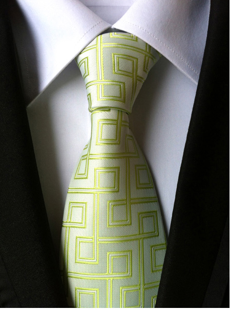Moda masculina terno e gravata de poliéster de seda jacquard - Acessórios de vestuário