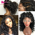 Glueless Synthetic Lace Wigs For Black Women Heat Resistant Synthetic Lace Front Wigs With Baby Hair Short Curly Synthetic Wigs