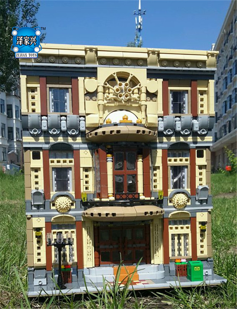 5052Pcs Block Genuine Creative MOC City Series The Maritime Museum Set Building Blocks Bricks Toys Model Gifts maritime safety