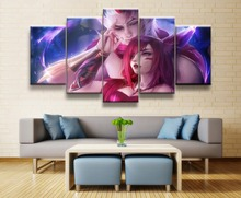 Painting Canvas Wall Art For 5 Piece HD Print Games League of Legends Living Room Decor Picture