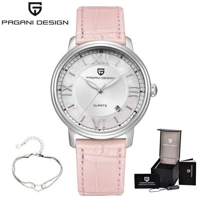 1b52344fd70 Novas PAGANI DESIGN Da Marca de Moda Mulheres Relógios Reloje Mujer  Senhoras de Quartzo de Couro