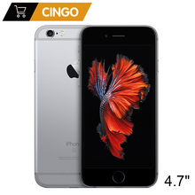 Телефон Apple iPhone 6S разблокированный, 2 ГБ ОЗУ 16 ГB 64 ГБ 128 ГБ ПЗУ, 4,7 дюймовый экран, iOS два ядра, камера 12 Мп, сканер отпечатков пальцев, 4G LTE оригинальный мобильный телефон