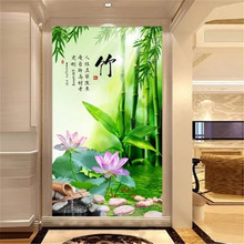 DiamondEmbroidery,China,landscape,scenery,Bamboo,5D Full Diamond Painting,Flower Cross Stitch,Diamond Mosaic,Decoration