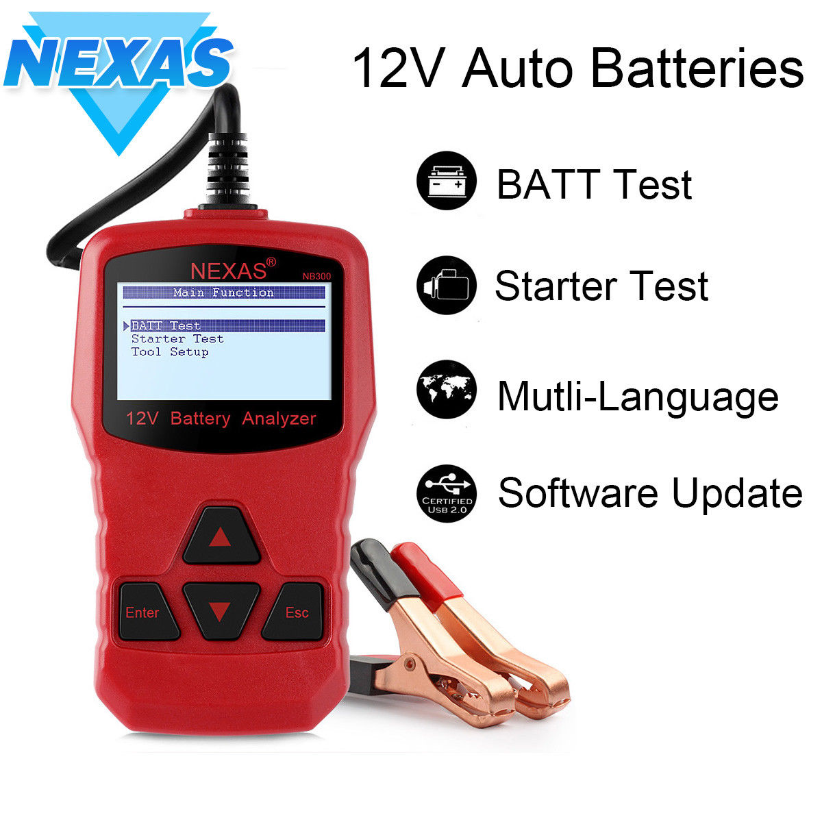 NEXAS NB300 12V Battery Tester Directly Check Starter and Cranking Charging System Battery Tester For Car / Motorcycle стоимость