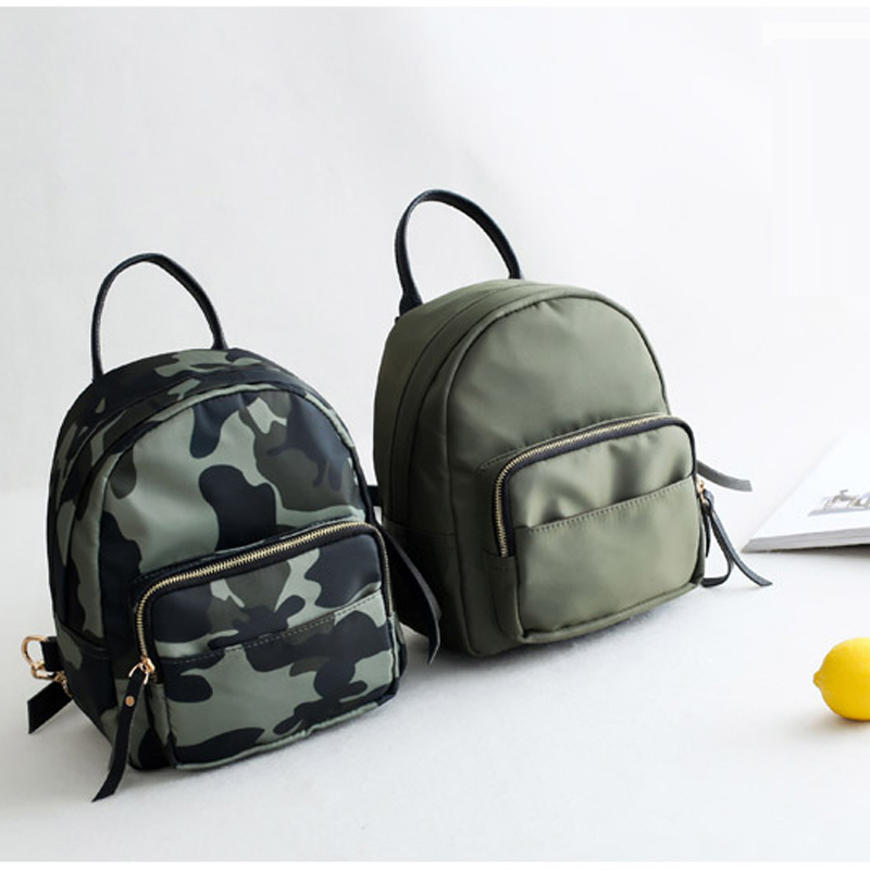 Doranmi Oxford Small Backpack For Women School Backpacks Plaid Mini Casual Daypack Feminine Mochila Camouflage School Bag Sjb213 #3