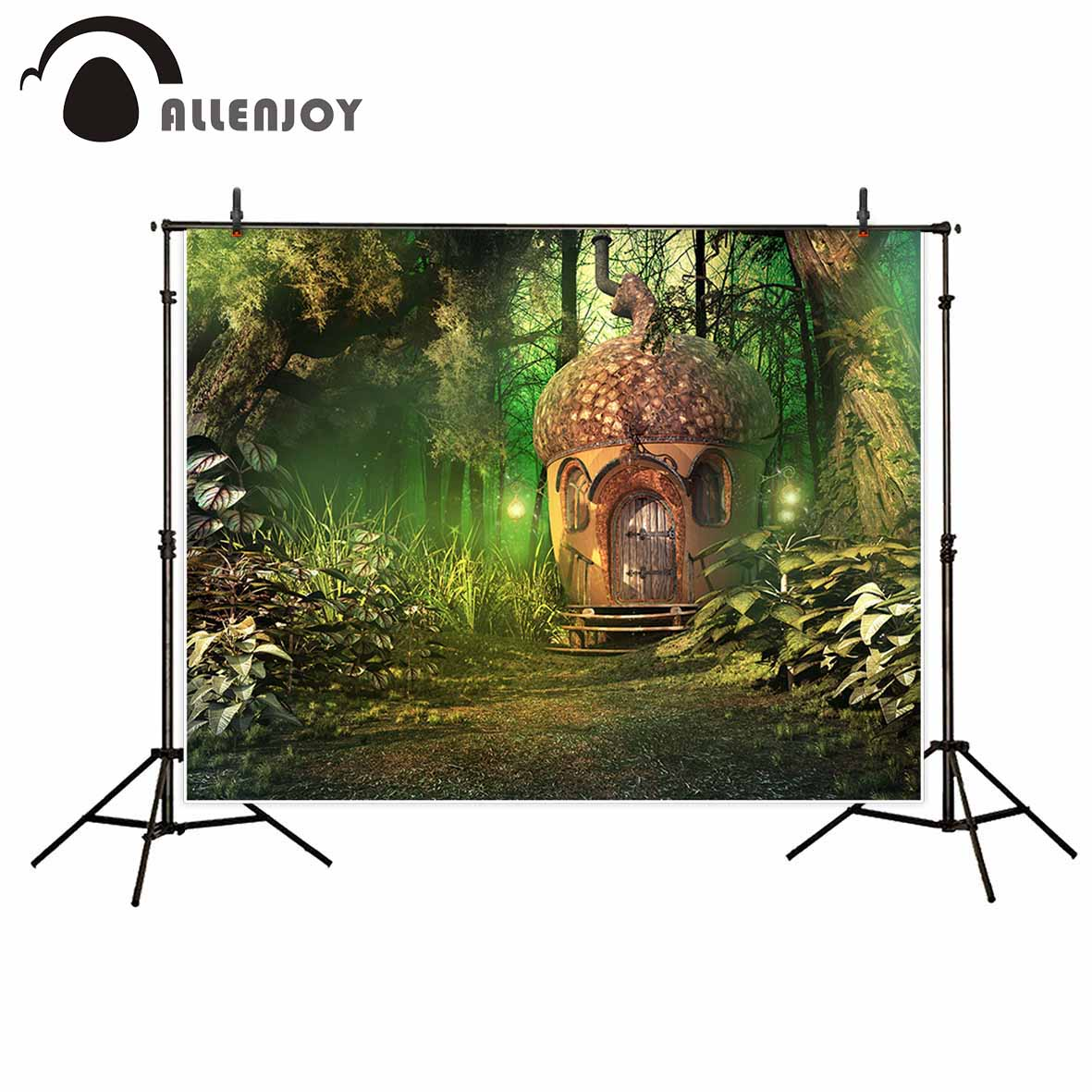 Allenjoy photography backdrop Forest fairy tale cartoon acorns quiet new background photocall customize Children's studio vinyl photography background fairy tale