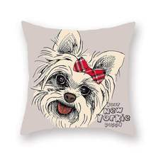 Emerra 20Colors Wholesale Cute Cartoon Dogs Pillow Case Polyester Decorative  Cover Square Hot Selling FreeShipping