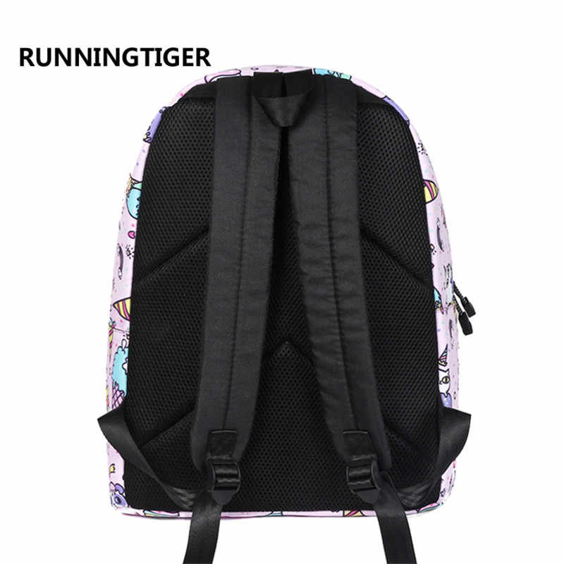 916810604 ... RUNNINGTIGER Children Backpacks Ice Cream Unicorn Women Original Bag  School Bagpack For Teenage Girls mochila feminina ...