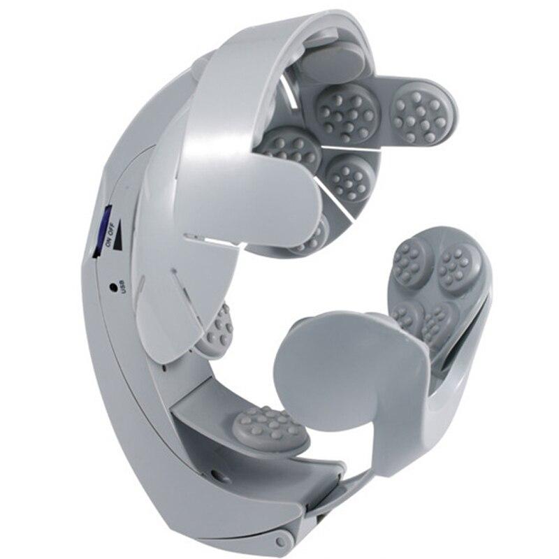 Masseur de tête électrique Relaxation cérébrale stimulateur musculaire Massage Antistress tête Acupuncture Vibration Massageador cuir chevelu B130