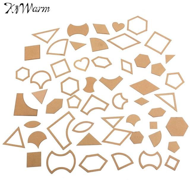 54 Teile/satz Handmade Gemischten Quilt Vorlagen Acryl DIY Werkzeug ...