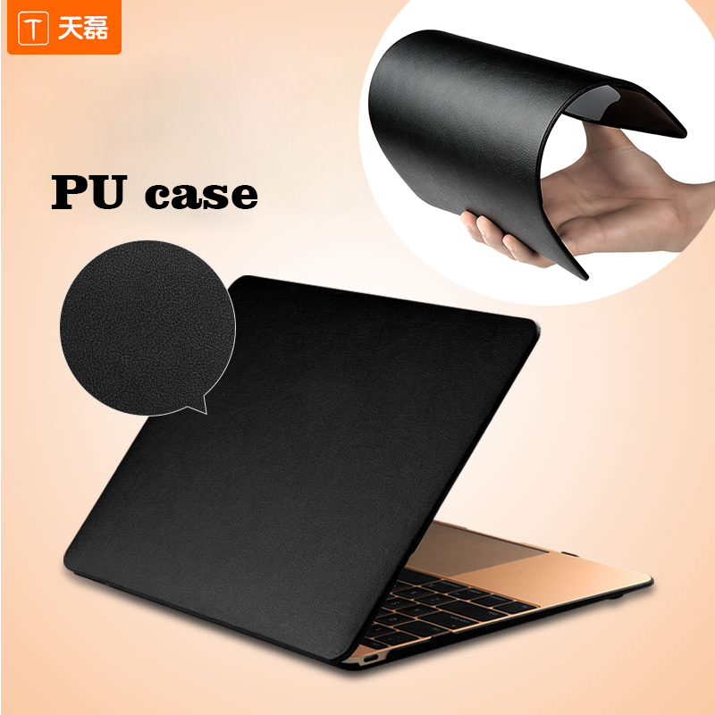 Laptop cases For Macbook High-end PU leather Ultra-Slim Soft case cover customized Protective stand case for Macbook Air pro etc ...