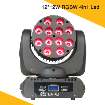 12*12 W Krachtige LED Beam Lichtstraal Moving Head Disco Licht RGBW 4in1 Led Beam