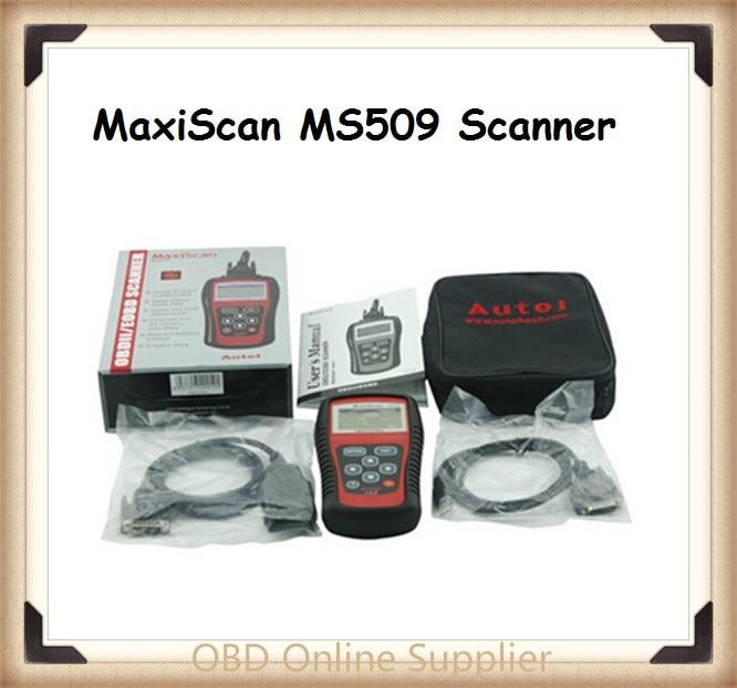 Цена за 2016 Последнее Высокое Качество MS 509 МС-509 MaxiScan MS509 Сканер Авто Код Сканер MaxiScan 509 Code Reader бесплатная доставка