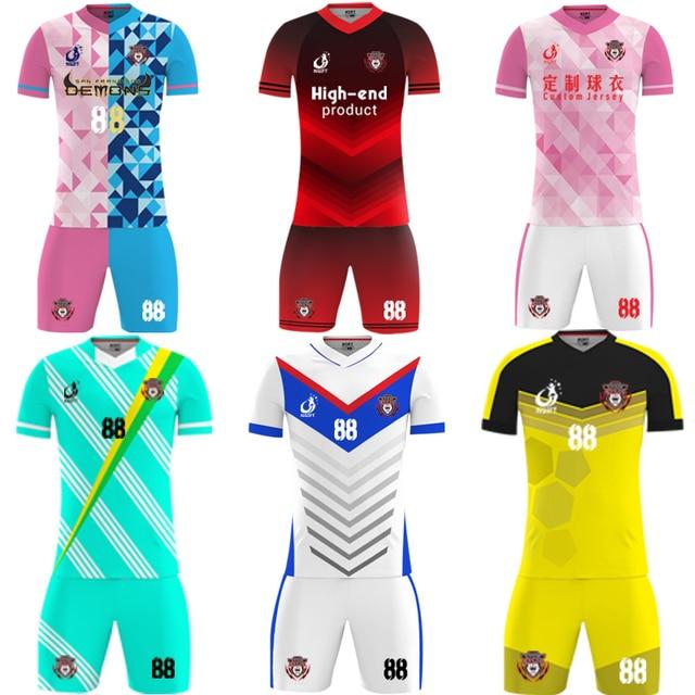 2677331072 Sublimada Ngift personalizar futebol jersey Rosa e branco uniforme do  futebol camisa de futebol personalizada OEM