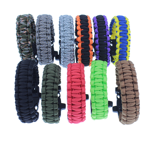 Survival Bracelet Multi-functional 3 in 1 Outdoor Gear Escape Paracord Whistle Brand New Camping Hiking
