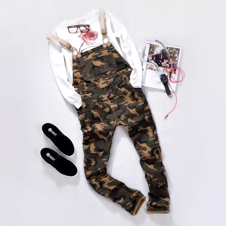 Camouflage Jumpsuit Men One Piece Overalls Fashion Mens Bib Overalls  Suspender Trousers Macacao Masculino Long Jumpsuits For Men 3e3ed45924b
