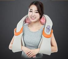 U Shape Electrical Shiatsu Back Neck Shoulder Massager body infrared 3D kneading massager EU plug flat plug