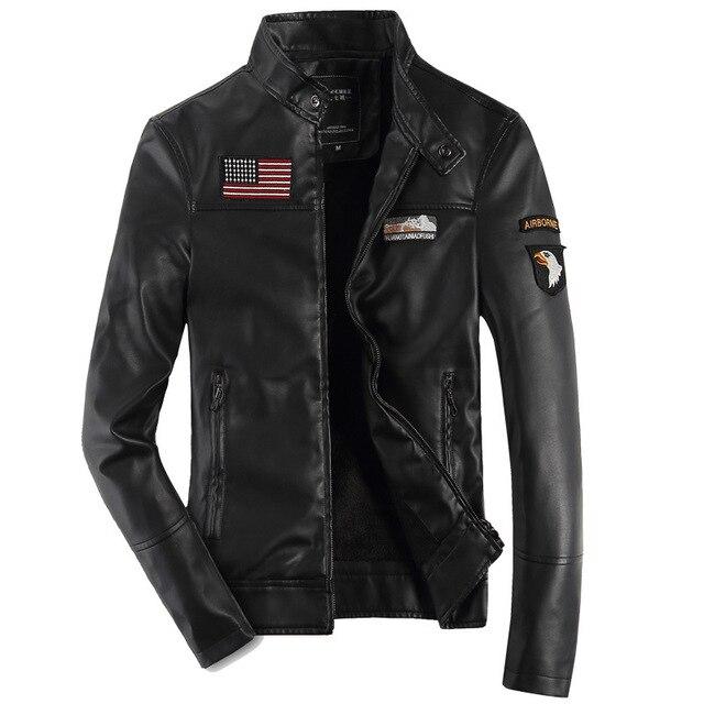 USA 101 Airborne Division jackets for men pilot pu leather vintage bomber USAF air force jacket 3 colors