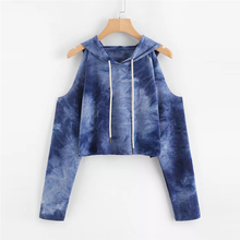 Women's Hoodie Strapless Printed fall clothing for women tre