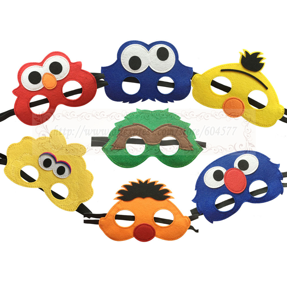 Seasame Street Costumes Masks Boys and Girls Elmo birthday party decorations halloween costume