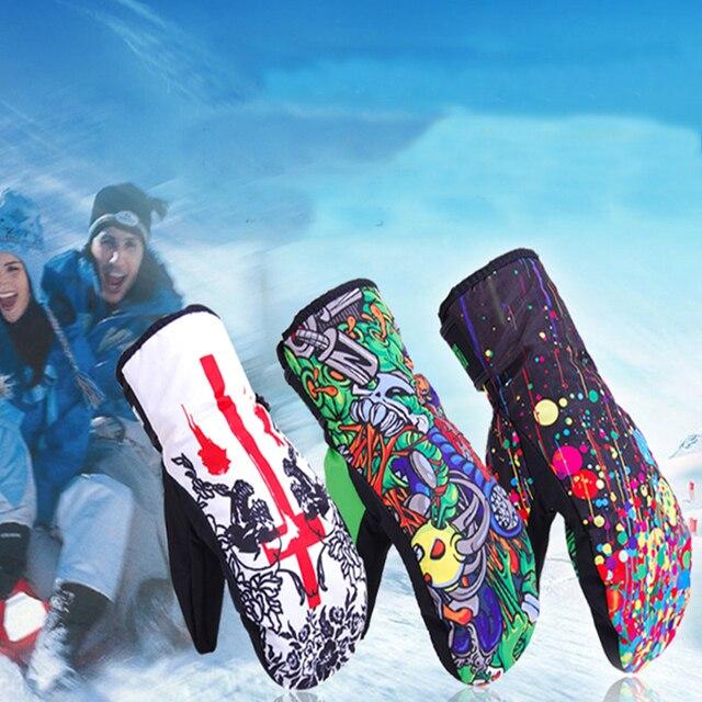 Marsnow Winter Ski Gloves for Men Women Waterproof Snowmobile Windproof Mittens Sport Snowboard Skiing Cycling Snow Glove