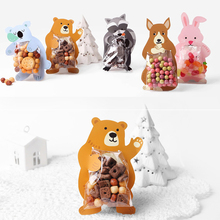 50set candy bag 5 style rabbit bear raccoon koala dog party decorate children birthday use sweet Gift Wrap Storage
