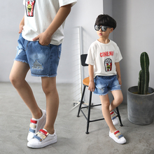 Jeans Shorts for Boy Summer Style Denim Boy's Panties 2017 New Children Clothes Boys Hole Leggings 3T to 14T Years old Clothing