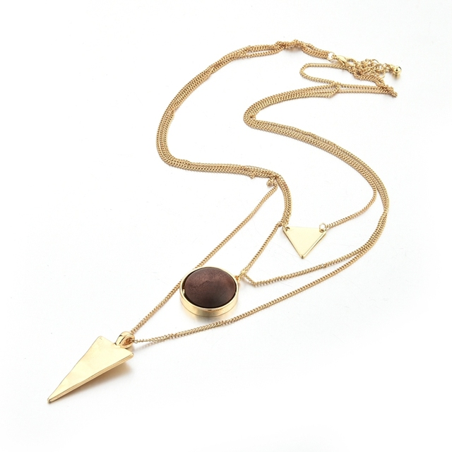 Купить женское ожерелье с подвеской из натурального камня toucheart