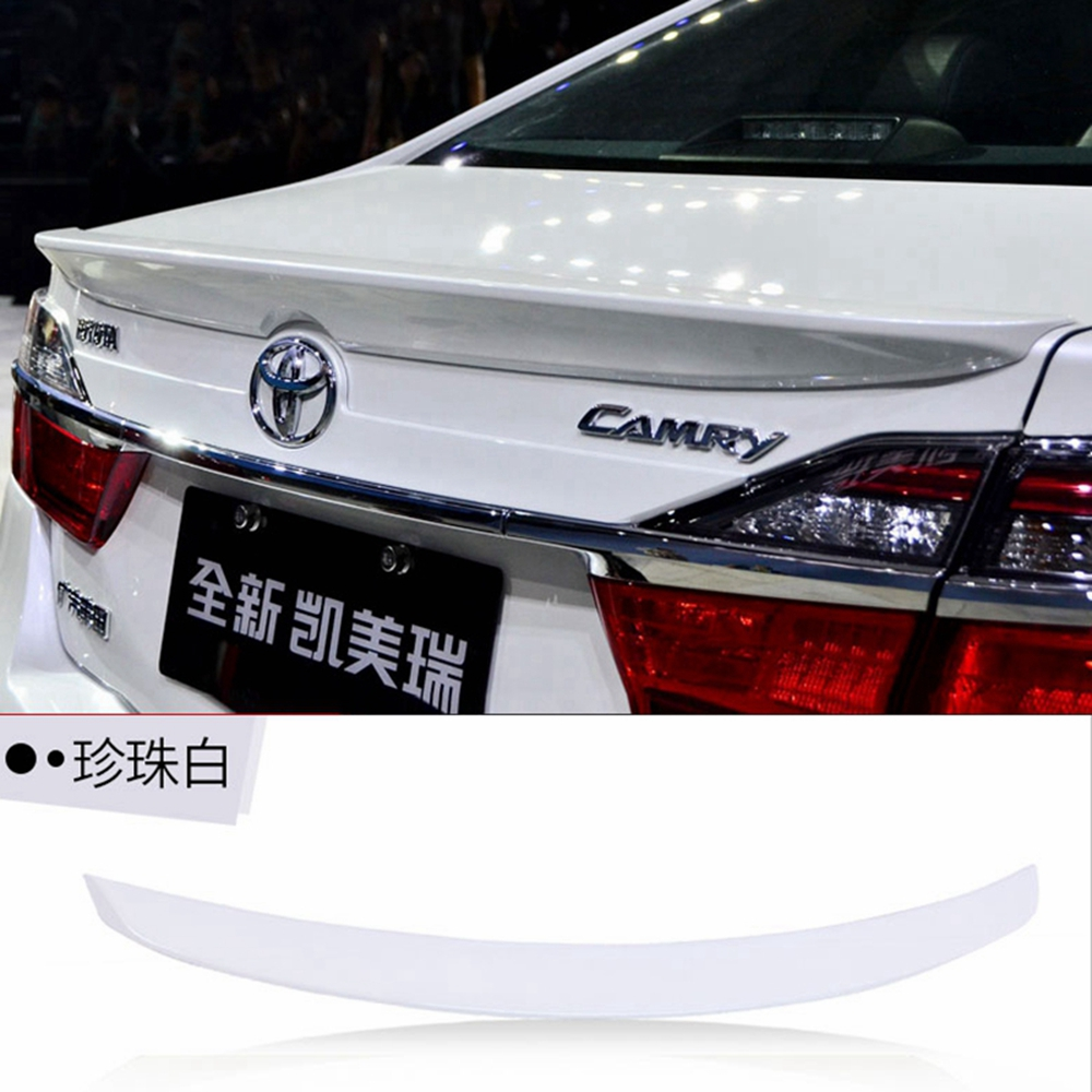 MONTFORD For Toyota Camry 2012 2013 2014 2015 ABS Plastic Unpainted Primer Color Rear Roof Trunk Boot Wing Spoiler Car Styling single sale pirate suit batman bruce wayne classic tv batcave super heroes minifigures model building blocks kids toys gifts
